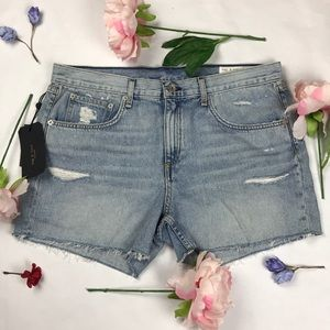 NWT Rag & Bone distressed frayed hem jean shorts
